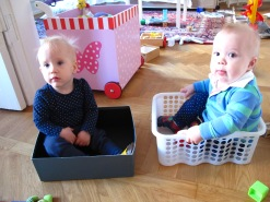 Twins in boxes
