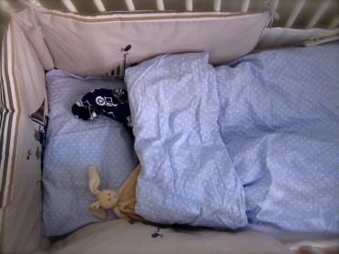 Hugo's bed