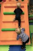Lilly and Hugo climbing