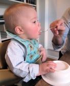 Hugo eating cake