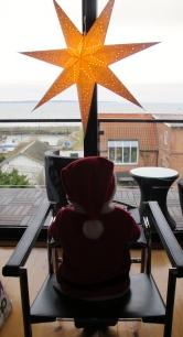 Oskar waiting for Santa