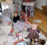 Surrounded by presents