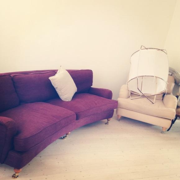 Nya soffan och fåtöljen