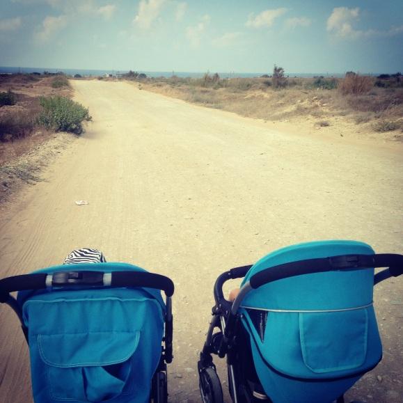 På väg till beachen