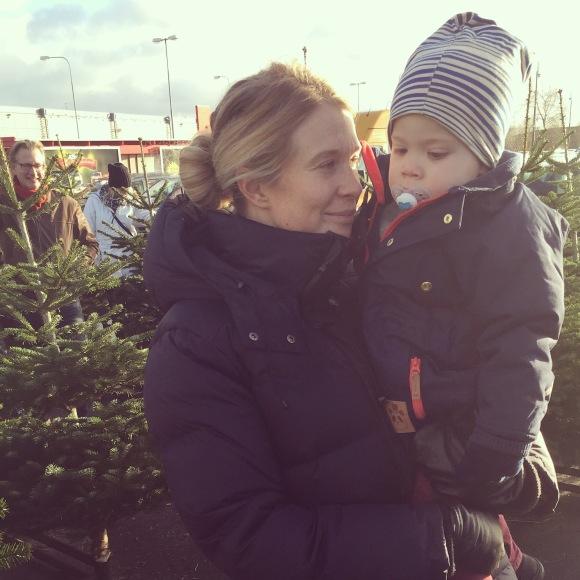 Julgransinköp med Hugo