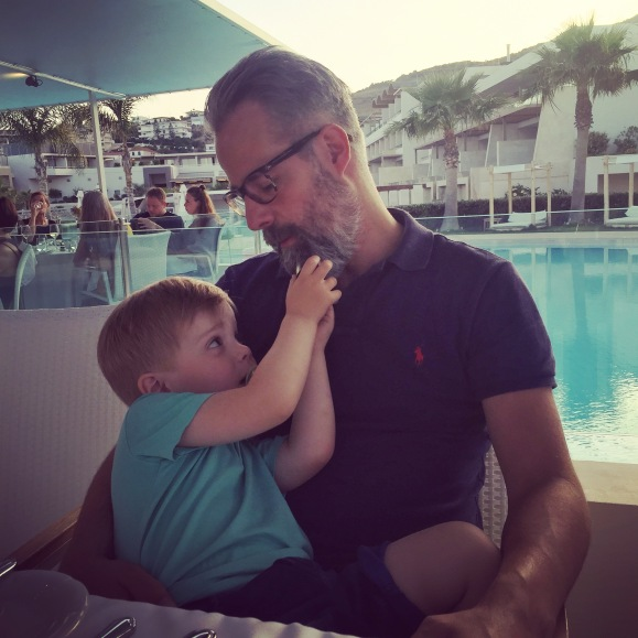 Hugo och pappa